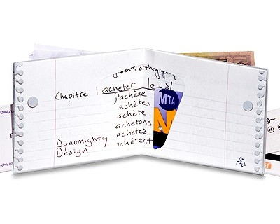 Carteira Dynomighty - 3 Ring Binder Mighty Wallet - Interior Cheio