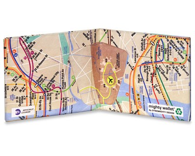 Carteira Dynomighty - NYC Subway Map Mighty Wallet - Interior